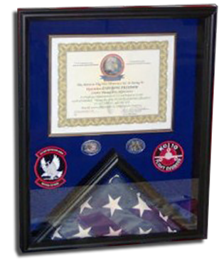 """Flag Box with Certificate (16"""" x 20"""")"""