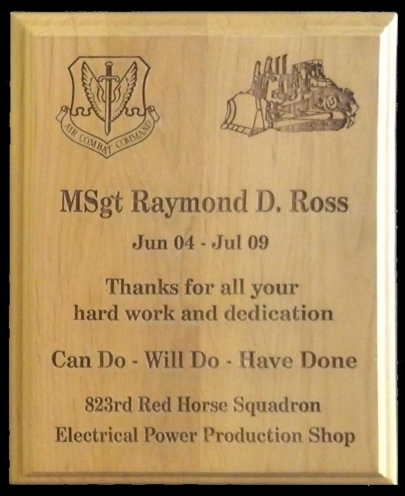 Laser Engraved Plaque