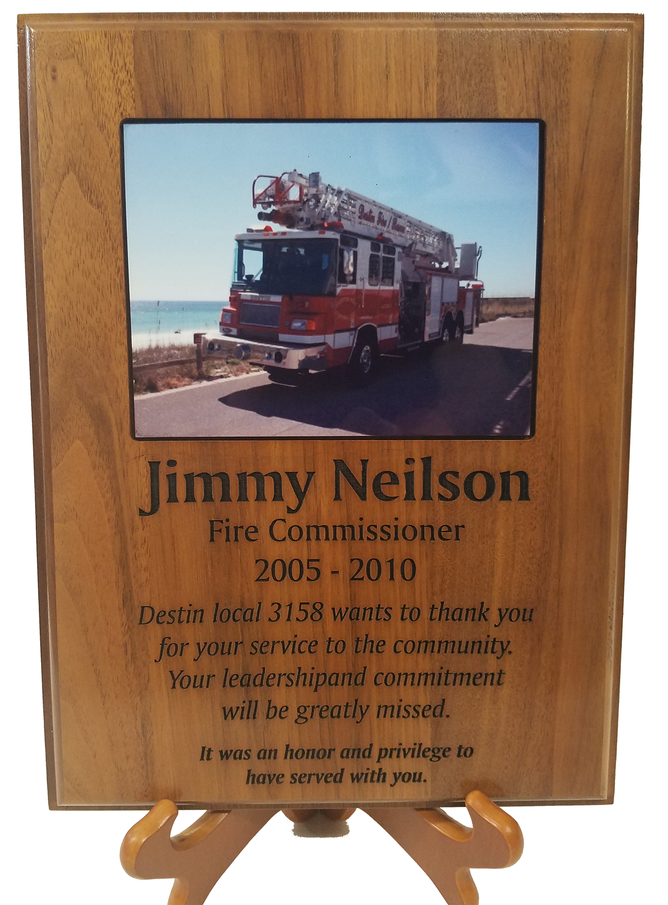 Plaque with Photo Inlay